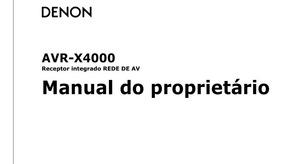 Manual Em Português Do Receiver Denon Avr-x4000
