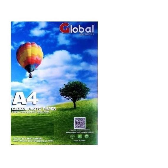 Papel Fotografico 260 Grs Brillante Glossy A4 X 20 Hojas