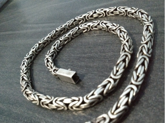 Cordão Prata Indiana Peruana Bali 925