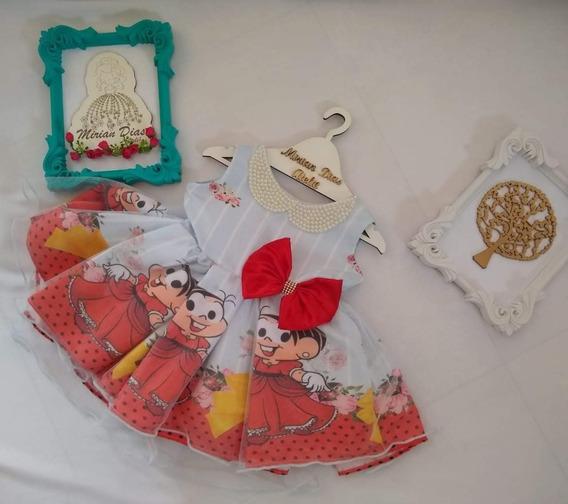 Vestido Da Mônica - Forro, Armação, Tuli E Gola Pérola