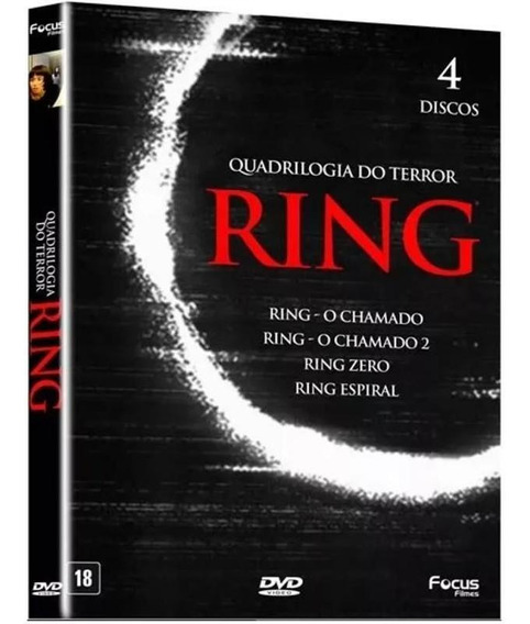 Dvd Ring - Quadrilogia Do Terror (4 Dvds)