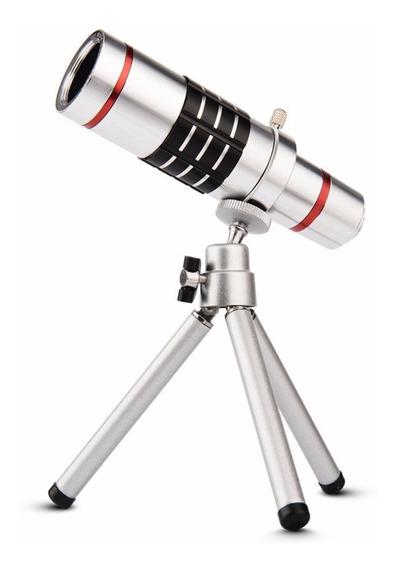 Luneta Universal Telescópio P/ iPhone 7 Plus Dc734 + Tripé