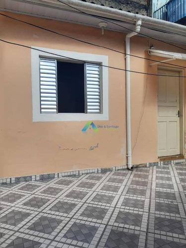 Casa Com 1 Dormitório Para Alugar Por R$ 800,00/mês - Jardim Clímax - São Paulo/sp - Ca0830
