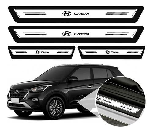 Soleira Protetor De Porta Hyundai Creta 19 2020 2021 - Prata