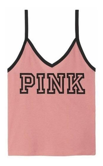 Victorias Secret Blusa Tank Color Begonia Talla M Amyglo