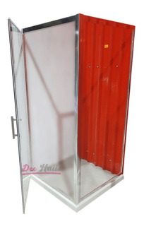 Shower Door Al Piso Puerta Abatible 90x90x185cm/ Dec-haus