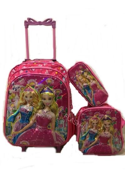 Kit Mochila 3d Carrinho Infantil Barbie Linda 2019