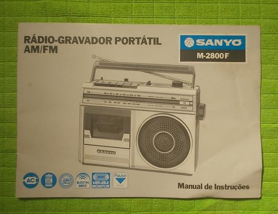 Manual Radio-gravador Sanyo M-2800f