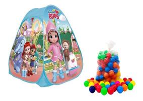 Barraca Infantil Rainbow Ruby Piscina C/ 50 Bolinhas Menina