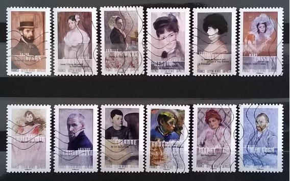 Francia Arte, Serie Carnet Yv. Bc 1258 Retratos Usada L11946
