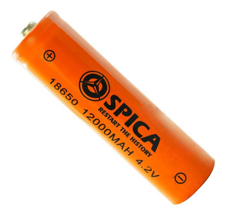 Pila Bateria Recargable 18650 4.2v Spica Para Linterna Tacti