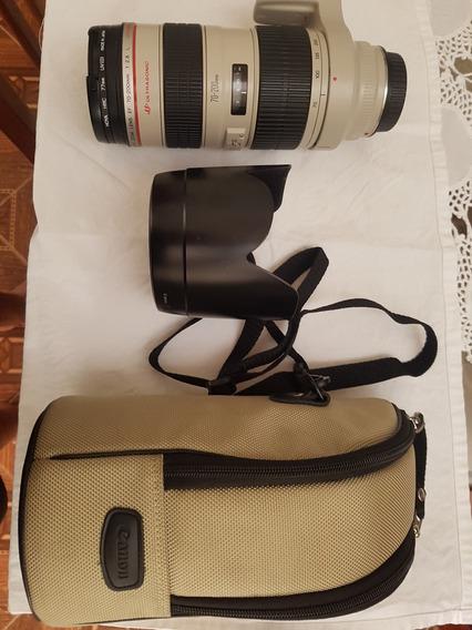 Lente Canon 70x200mm 2.8 Sem Estabilizador