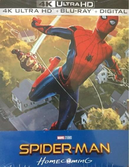 Spider-man Regreso A Casa Homecoming Steelbook 4k Ultra Hd