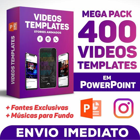400 Videos Templates Em Powerpoint Instagram Stories/feed