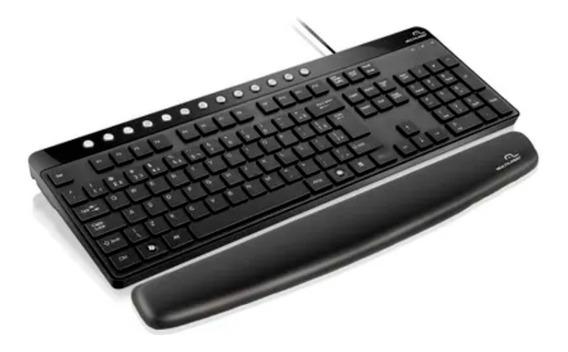 Desktop Mouse Pad Gel Apoio De Pulso Para Teclado Preto