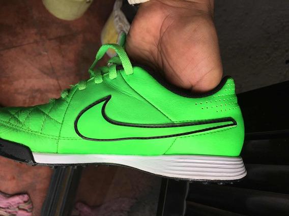 Tenis Nike Tiempo Color Verde Para Niño