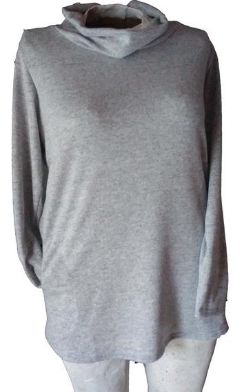 Sweater Lanilla Cuello Volcado Dama Talle Especiales