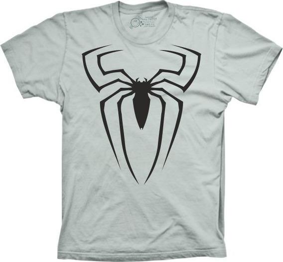 Camiseta Masculina Homem Aranha Tamanhos Especiais Cores