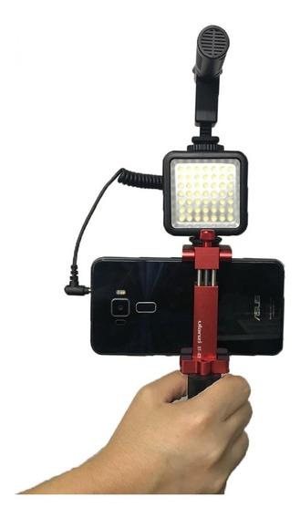 Estabilizador+microfone+led+suporte Smartphone Celular