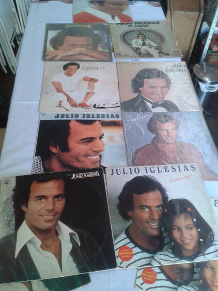 Lote Discos De Vinil Julio Iglesias Frete Grátis + Brindes