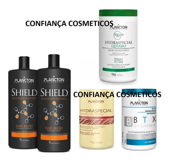 Botox Plancton + Quiabo + Verniz + Progressiva Kit Plancton