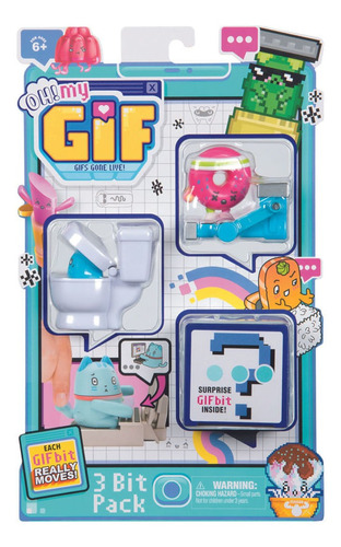 Oh My Gif Coleccionables 3 Bit Pack Wave 1 Donuts + Inodoro