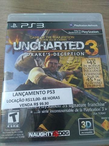 Uncharted 3 Ps3 - Usado
