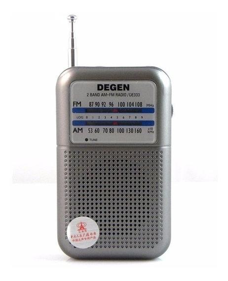 Rádio Portátil Radinho Degen De333 Am Fm Promoção