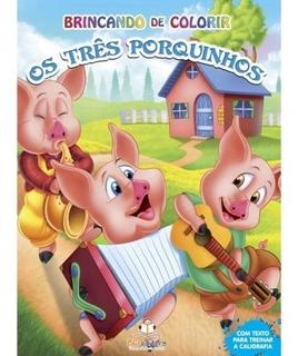 Livro Brincando De Colorir Os Três Porquinhos Clássico