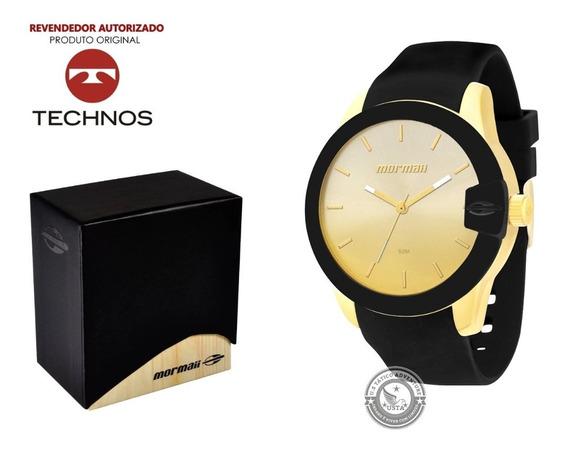 Relógio Mormaii Mo2035bf/8m Dourado Silicone Original Luxo