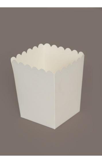Caja Para Pochoclo Blanca Excelente Calidad (pack X50)
