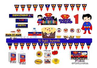 Tarjetas Invitacion De Superman Otras Categorías En