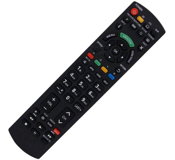 Controle Remoto Smart Tv Panasonic Led Tecla Amazon Netflix