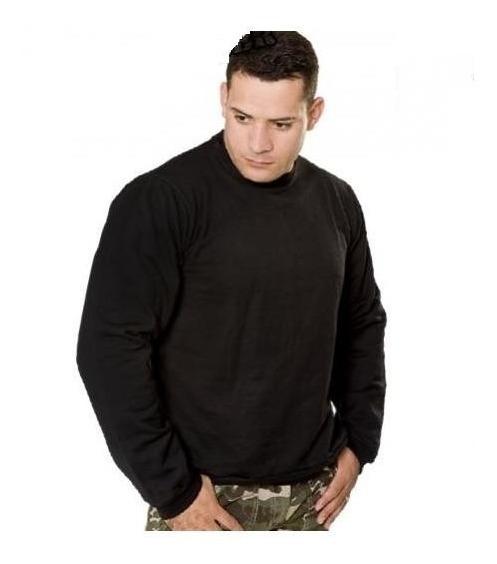 Moletom Liso Preto Casaco Blusa Mundo Do Militar