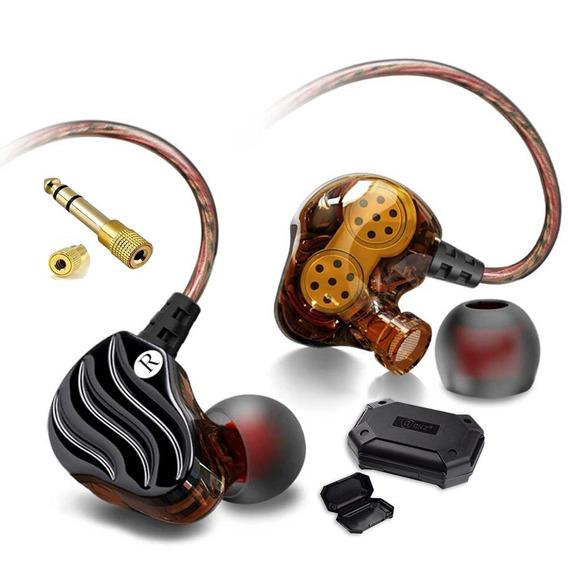 Fone In Ear Qkz Kd4 Dual Driv Retorno De Palco + P10
