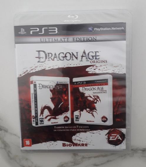 Jogo Dragon Age Origins Collection Ps3 Mídia Física Lacrado