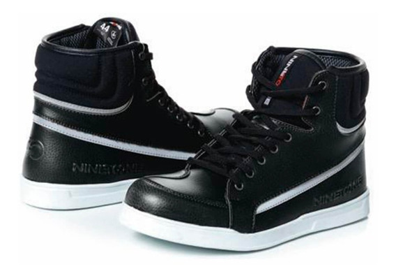 Botas Moto Nine To One Sneakers Rome Negras Cuotas