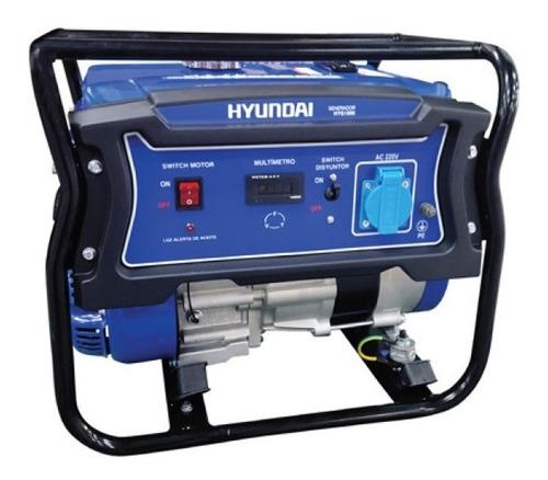 Generador Eléctrico Hyundai Gasolina Manual 1/0,8 Kw/kva
