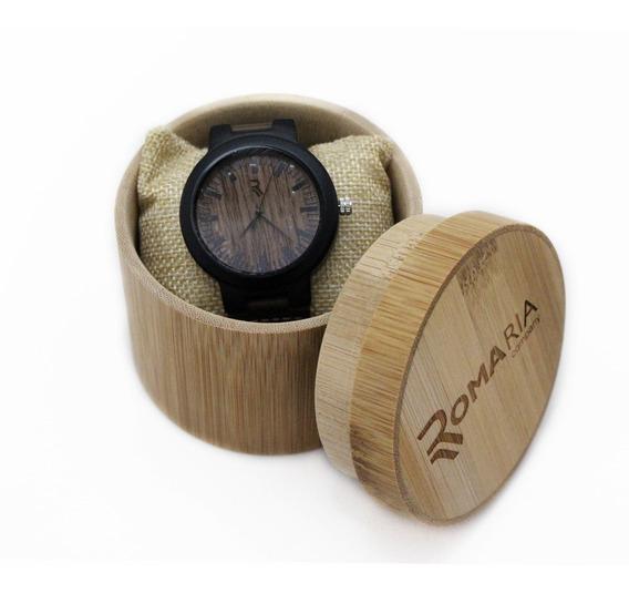 Relógio Masculino Madeira Analógico Com Caixa Frete Grátis