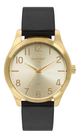 Relógio Condor Aço Masculino Dourado Co2035mqd/2x