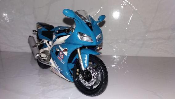 Moto Yamaha Yzr R1, Azul, Da New Ray, Escala 1/12