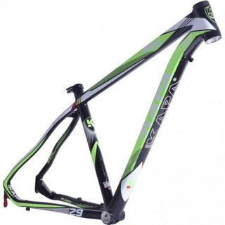 Quadro 29 M6 Aluminio Preto / Verde Tam 17,5 - Kapa Bikes