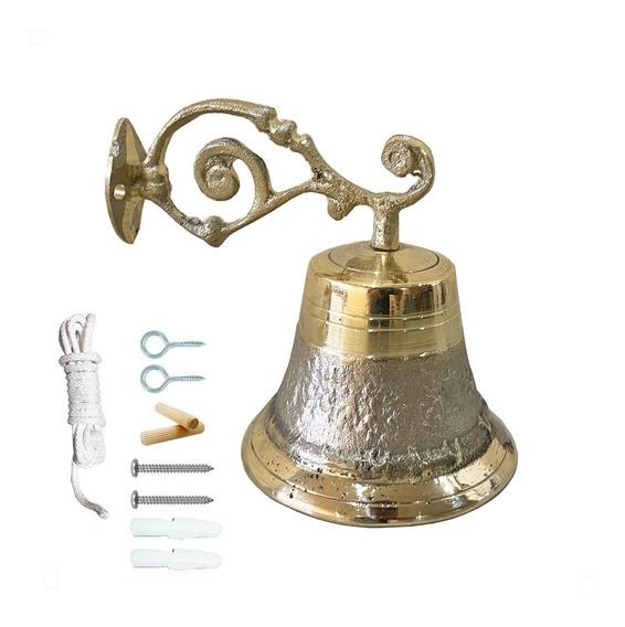 Campana Para Timbre (campana De Pared) De Bronce No. 10