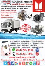 Reparación De Bomba De Agua Automotriz Isuzu Npr 4hf1,