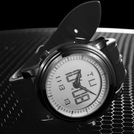 Relógio Masculino Moderno Preto Aço Inoxidável Analogico Top