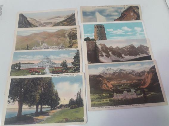 Antiguas Tarjetas Postales. Parques De U.s.a. Años 40.