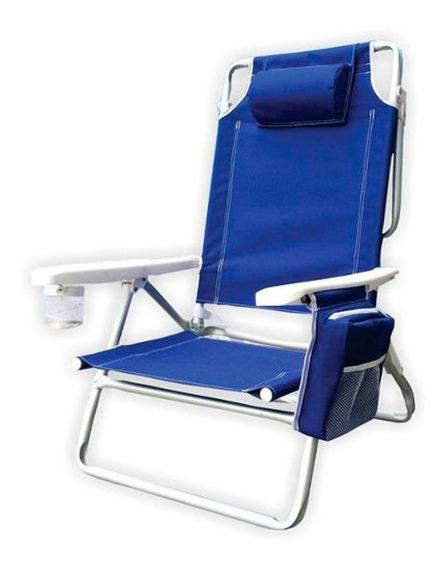 Cadeira De Praia Com Bolsa Térmica 5 Posições Kala