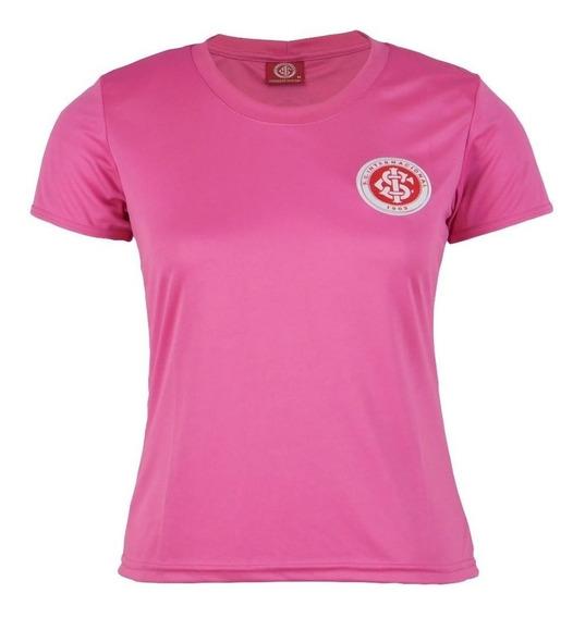Camisa Internacional Rosa Baby Look Feminina Original Inter