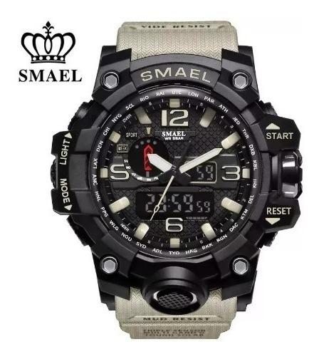 Relógio Smael 1545 Militar Shock Original Varias Cores