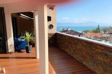 Cobertura Vista Mar Com 2 Dormitórios À Venda, 330 M² Por R$ 1.850.000 - Jurerê - Florianópolis/sc - Co0239